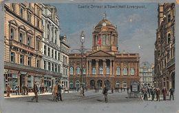 Liverpool Castle Street Town Hall Postcard - Liverpool