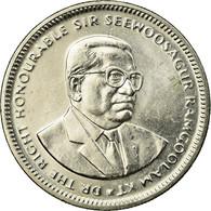 Monnaie, Mauritius, 1/2 Rupee, 2007, TTB, Nickel Plated Steel, KM:54 - Mauritius