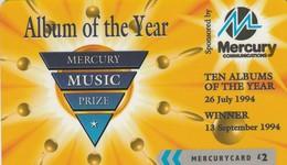 TARJETA TELEFONICA DE GRAN BRETAÑA, Mercury Music Prize (3a) - We Charge By… 48MERT. MER547A. (012) - Reino Unido