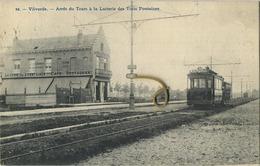 Vilvoorde : Arret Du Tram A La Laiterie Des Trois Fontaines  (  Ecrit 1909 Avec Timbre ) - Vilvoorde