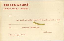 Westerlo - Tongerlo : ROOD KRUIS Van België - Westerlo