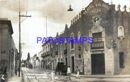 110658 MEXICO MERIDA YUCATAN TEATRO COLONIAL & RAILRAOD POSTAL POSTCARD - Mexique