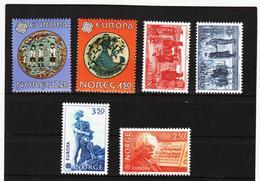 LKA552 EUROPA CEPT 1981/83 NORWEGEN Michl 81/82+836/37+865/66+885/86 ** Postfrisch - Europa-CEPT