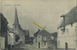 Ronquierès :  La Place  (  Ecrit 1904 Avec Timbre ) - België