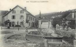 - Doubs -ref-A832- Villars Sous Dampjoux - Café Restaurant - Cafés - Restaurants - Auto Garage - Fontaine -statue Vierge - France
