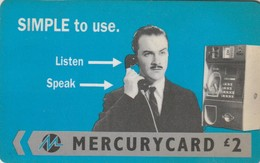 TARJETA TELEFONICA DE GRAN BRETAÑA, MERCURY. Harry Enfield - Simple (Reprint) - 33 MERB. MER412. (008) - Reino Unido