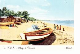 BENIN Ex A.O.F.  Village De Pêcheurs, Plage, Barques, Enfants, Ed. Vincent DAKAR 1970 Environ - Benin