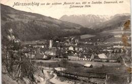 Mürzzuschlag Von Der Schönen Aussicht, Steiermark Mit Schneealpe (9239) * Karte Von 1907 - Mürzzuschlag