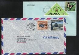 Jamaica 2 Interesting Airmail Letters - Jamaica (1962-...)