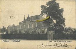 Flobecq : L' Hopital  ( Ecrit 1902 Avec Timbre )  Avec Reclame Chocolat Jos Bieswal Et Cie - Flobecq - Vloesberg