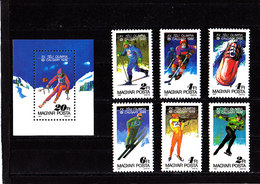 Olympics 1988 - Ice Hockey - HUNGARY - S/S+Set MNH - Inverno1988: Calgary