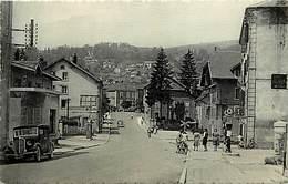 - Doubs -ref-A831- Morteau - Rue De L Helvetie - Pompe A Essence - Voiture - Cachet Centenaire Ligne Besançon Le Locle - France