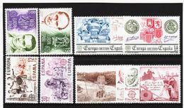LKA557 EUROPA CEPT 1980/83 SPANIEN Michl 2460/61+2498/99+2545/46+2585/86 ** Postfrisch - Europa-CEPT