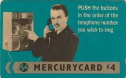 TARJETA TELEFONICA DE GRAN BRETAÑA, MERCURY. Harry Enfield - Push. 20MERD. MER186. (009) - Reino Unido