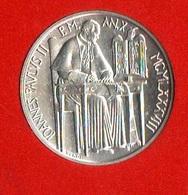 1000 Lire 1988 Vaticano Papa Paolo II° Vatikan State Silver Coin Anno X° Year - Vaticano