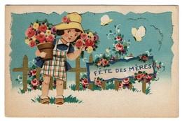 Charmante Carte Ancienne - Relief - Découpis - Fête Des Mères - 2 Scans - Fête Des Mères