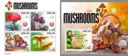 SIERRA LEONE 2019 MNH Mushrooms Pilze Champignons M/S+S/S - OFFICIAL ISSUE - DH1916 - Funghi