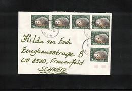 Sweden Hedgehog Interesting Letter - Briefmarken
