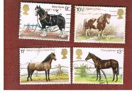 GRAN BRETAGNA (UNITED KINGDOM) -  SG 1063.1066  -  1978 HORSES (COMPLET SET OF  4) - USED - Usati