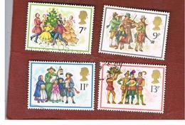 GRAN BRETAGNA (UNITED KINGDOM) -  SG 1071.1074  -  1978 CHRISTMAS: CAROL-SINGING (COMPLET SET OF  4) - USED - 1952-.... (Elisabetta II)