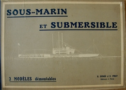 """Rare  ! """"Sous-Marin Et Submersible - 2 Modèles Démontables"""" - Boats"""