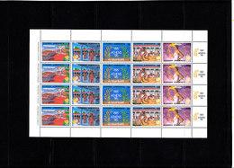 Olympics 1988 - History - GREECE - Sheet MNH - Ete 1988: Séoul