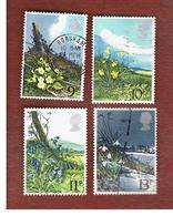 GRAN BRETAGNA (UNITED KINGDOM) -  SG 1079.1082  -  1979 SPRING WILD FLOWERS (COMPLET SET OF 4) - USED - 1952-.... (Elisabetta II)