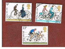 GRAN BRETAGNA (UNITED KINGDOM) -  SG 1067.1070  -  1978 CYCLING ANNIVERSARIES - USED - 1952-.... (Elisabetta II)
