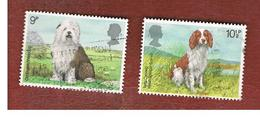 GRAN BRETAGNA (UNITED KINGDOM) -  SG 1075.1076  -  1979 DOGS  - USED - 1952-.... (Elisabetta II)