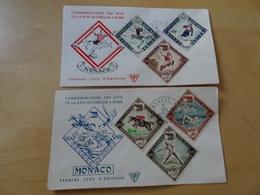 Monaco Michel 629/34 FDC Olympiade 1960 (10337) - FDC