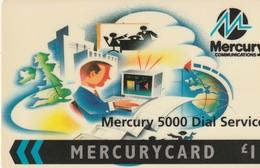 TARJETA TELEFONICA DE GRAN BRETAÑA, Mercury 5000 Dial Service. 20MERB. MER525. Tiraje: 2.712. (013) - Reino Unido