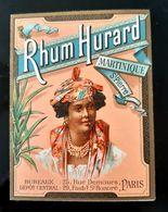 RHUM HURARD 1893 CARTE A 2 VOLETS CALENDRIER SAINT PIERRE MARTINIQUE  RUM AVEC TARIF ET LISTE - Publicités