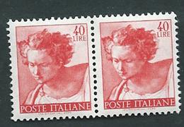 Italia 1961; Michelangiolesca: Lire 40 In Coppia. Profeta Daniele. - 1961-70:  Nuovi