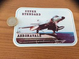 Ancien AUTOCOLLANT, Sticker «SUPER ETENDARD - AERONAVALE» (militaire, Avion) - Stickers