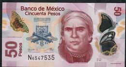 MEXICO P123Ag  50 PESOS 12.7.2016   #U   VF Folds NO P.h. ! - Mexico