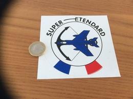 AUTOCOLLANT, Sticker «SUPER ETENDARD» (militaire, Aéronavale, Avion) - Autocollants