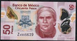 MEXICO P123Ag  50 PESOS 12.7.2016   #V   VF Folds NO P.h. ! - México