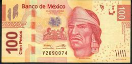 MEXICO P124k  100 PESOS 17.10.2013   #AJ   VF Folds NO P.h. ! - México