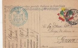 FRANCHIGIA MILITARE IGM- COMANDO 265 FANTERIA - VIAGGIATA 1917- - 1900-44 Vittorio Emanuele III