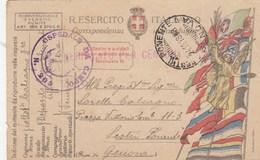 FRANCHIGIA MILITARE IGM- OSPEDALE DA CAMPO 203 - VIAGGIATA 1918- - 1900-44 Vittorio Emanuele III
