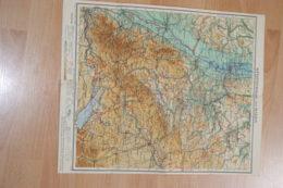 Carte Allemande Wurttemberg Und Baden,1947 Office Of Military US. - Carte Stradali