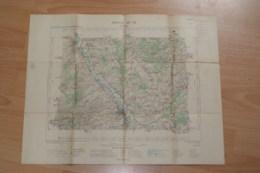 Carte Topographique Troyes Année 1901,tampon Du Ministère De L'intérieur. - Topographische Kaarten