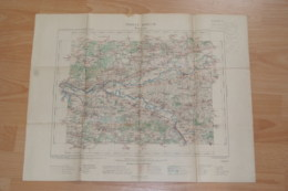 Carte Topographique  Montereau Années 1905,tampon Du Ministère De L'intérieur. - Topographical Maps