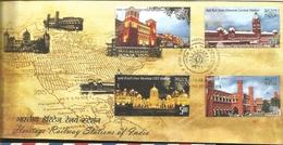 J) 2009 INDIA, HOWRAH STATION, CHENNAI CENTRAL STATION, MUMBAI CST STATION, OLD DELHI STATION, HERITAGE RAILWAY STATION - Covers & Documents