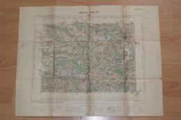 Carte Topographique  Sens Années 1903,tampon Du Ministère De L'intérieur. - Carte Topografiche