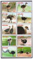 Aruba 2015 Struisvogel Ostrich Birds MNH - Autruches