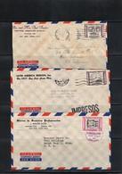 Costa Rica 3 Interesting Airmail Letters - Costa Rica