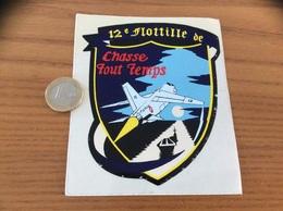 AUTOCOLLANT, Sticker «12e Flotille De Chasse Tout Temps» (militaire, Aéronavale, Avion, Porte-avions, 12F) - Autocollants