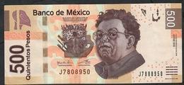 MEXICO P126l  500 PESOS 12.7.2016 #BB     VF+ - México