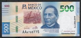 MEXICO NLP 500 PESOS 19.5.2017 #AA  Issued 2018   AU-UNC. ! - México